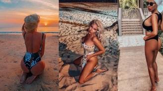 Андреа заля профила си със снимки по бански