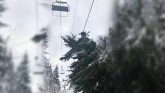 Дърво падна върху лифт в Пампорово