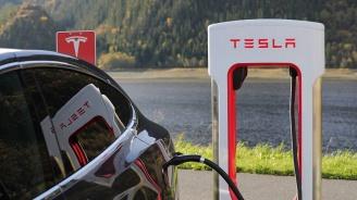 Волга дърпа закъсала Tesla в Русия (снимка)
