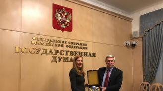 Ангелкова проведе работна среща с първия зам.-председател на руската Държавна Дума Иван Мелников