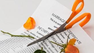 Младоженци се разведоха само три минути след церемонията