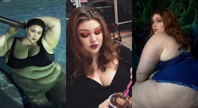 210-килограмова блогърка печели луди пари докато яде (снимки)