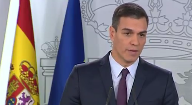 Педро Санчес: Предсрочни избори ще има. Всичко е в ръцете на испанците