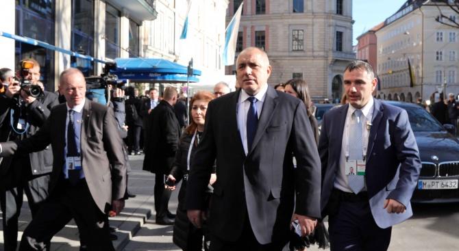 Започна участието на министър-председателя Бойко Борисов в Мюнхенската конференция по сигурността