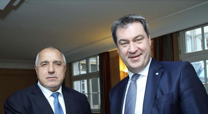 Борисов се срещна с министър-председателя на Бавария Маркус Зьодер