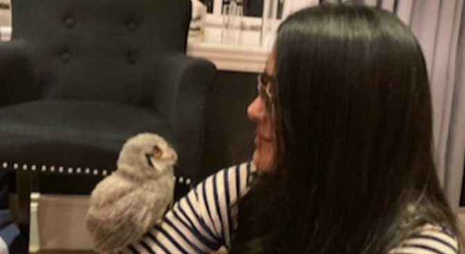 Мексиканската актриса и любителка на животните Салма Хайек, която преди