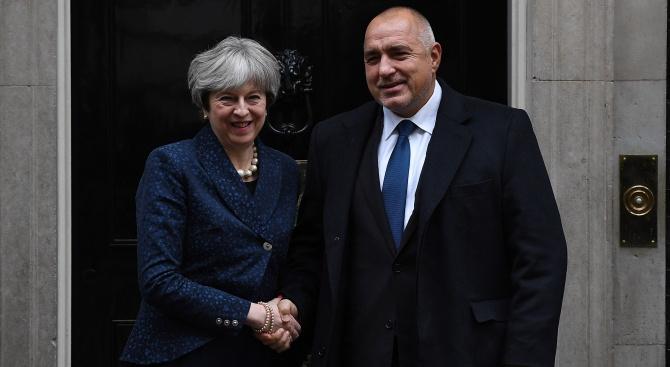 Премиерът Бойко Борисов проведе телефонен разговор с британския си колега