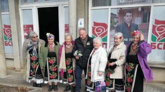 Сергей Станишев заряза лозе в монтанското село Георги Дамяново