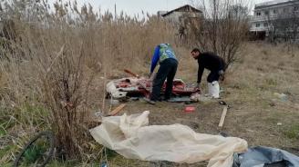 Община Бургас пак премахна незаконен бивак на роми от Сливен и Ямбол