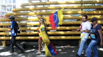 Американски военни самолети превозват до Колумбия помощ за Венецуела