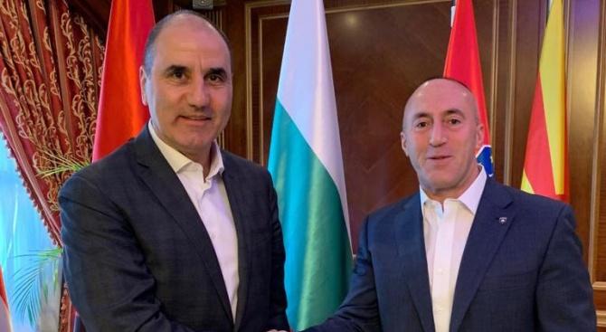 Цветан Цветанов проведе работна среща с премиера на Косово Рамуш Харадинай