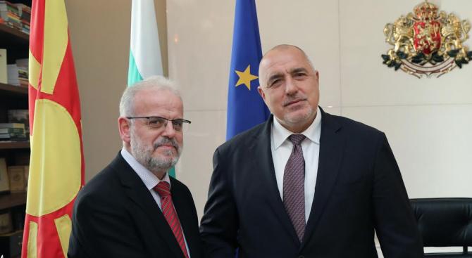 Снимка: Борисов се срещна с председателя на парламента на Република Северна Македония Талат Джафери