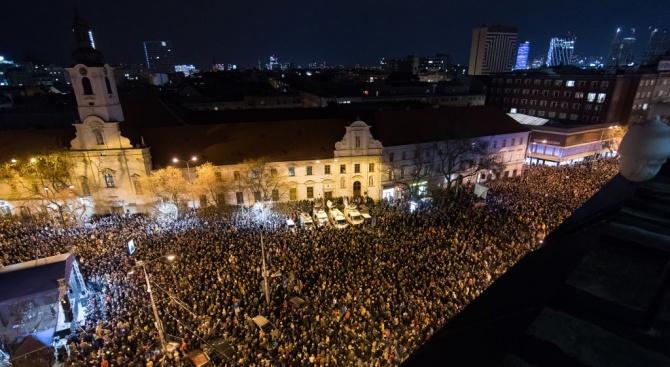 Хиляди словаци се участваха днес в отбелязването на първата годишнина