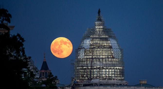 Снимка: САЩ създават коалиция от държави за усвояване на Луната
