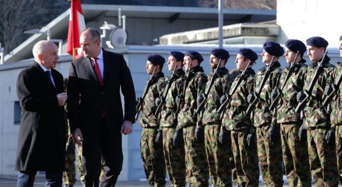 Българският държавен глава Румен Радев, който е на официално посещение