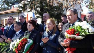 Ген. Константин Попов откри паметник на Апостола на свободата в Брезник
