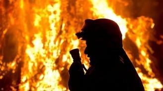 Дядо е с 60% изгаряния след пожар в лозов масив край Бургас