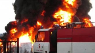 ТИР изгоря на пътя Русе - Бяла