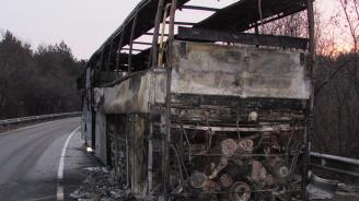 Автобус изгоря на пътя Русе - Бяла