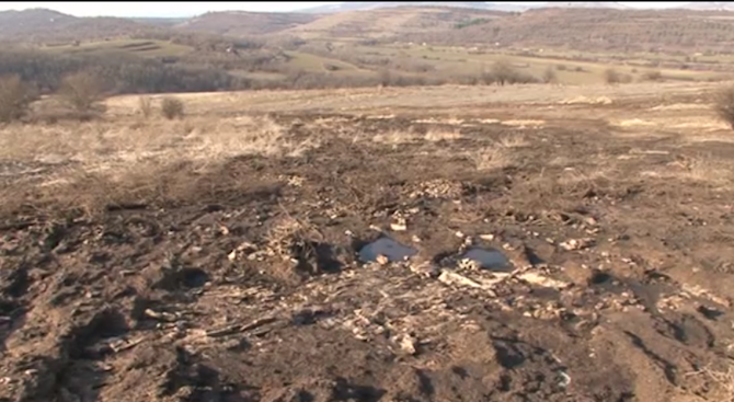 Протест в село Царевец срещу лоша миризма и отпадъци в почвата от биоцентрала