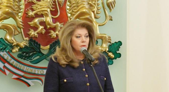Вицепрезидентът Илияна Йотова ще бъде на работно посещение в Съединените
