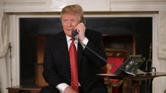 Тръмп е разговарял по телефона с японския премиер и с южнокорейския президент