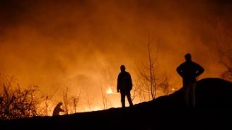 Голям пожар горя в София