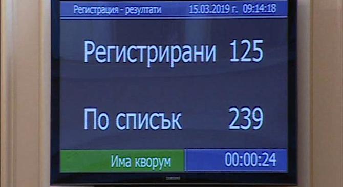 """Парламентът тръгна от втория опит, """"Воля"""" осигури кворума"""