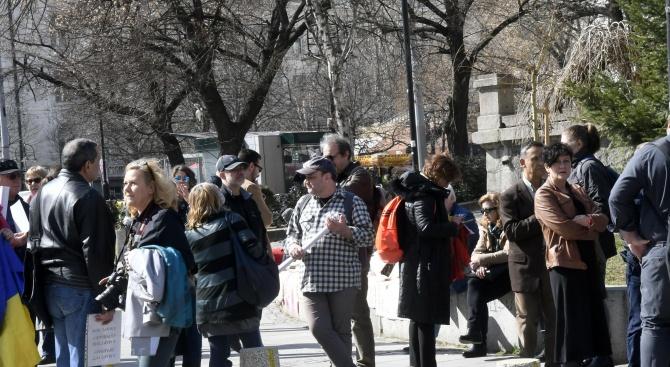 Протестно шествие в София обиколи главните институции. Протестът е организиран