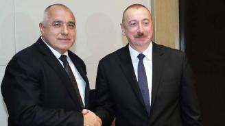 Бойко Борисов и президентът на Азербайджан Илхам Алиев обсъдиха енергийното сътрудничество