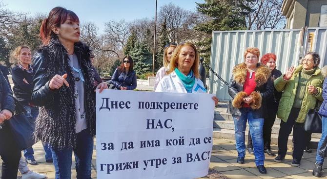 Медицинските сестри ще протестират утре с палатки пред сградата на