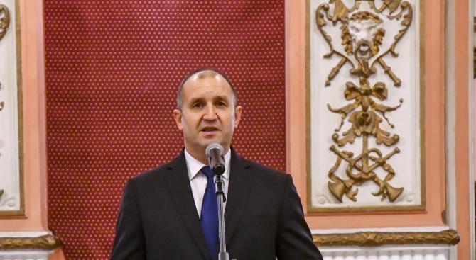 Държавният глава Румен Радев изпрати съболезнователно писмо до президента на