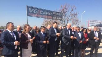 Депутати от ГЕРБ присъстваха на първата копка на изграждането на кръгово при селата Труд и Строево