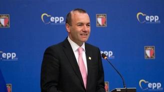 Водещият кандидат на ЕНП за евровота участваше в предизборен митинг със  Себастиан Курц