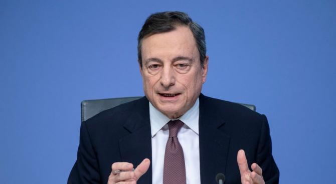 Председателят на Европейската централна банка Марио Драги потвърди, че икономическият