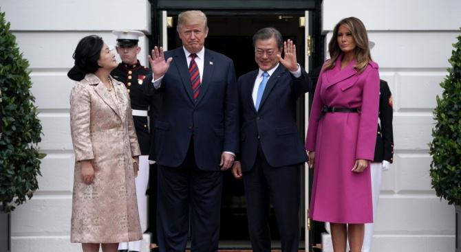 Тръмп се срещна с южнокорейския президент
