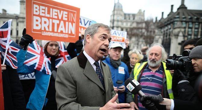 """Първи митинг на новата партия на Найджъл Фараж - """"Брекзит"""""""