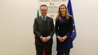 Ангелкова проведе работна среща с посланика на Италия у нас Н. Пр. Стефано Балди