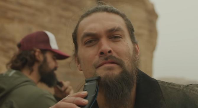 Джейсън Момоа се раздели с брадата си