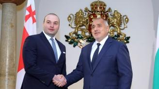 Започна срещата на премиера Бойко Борисов с грузинския му колега Мамука Бахтадзе
