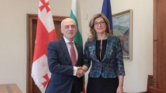 Екатерина Захариева: България ще продължава да подкрепя Грузия по пътя ѝ към ЕС