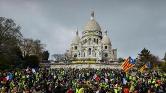 """Над 27 000 души участваха в съботните протести на френските """"жълти жилетки"""""""