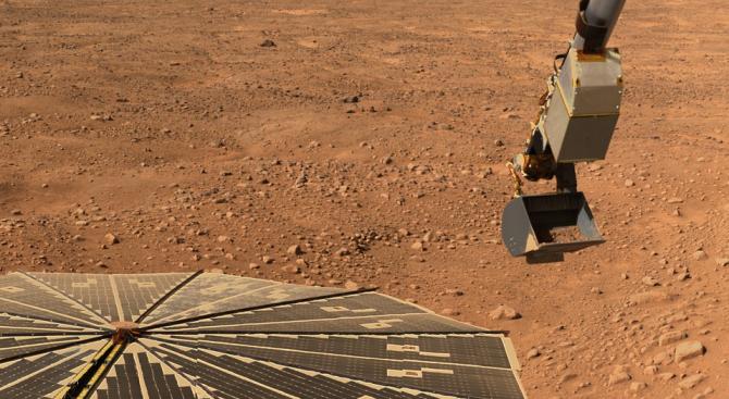 Регистрираха за първи път в историята трус на Марс