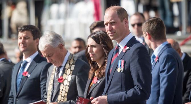 Принц Уилям посети Нова Зеландия по случай Деня Анзак