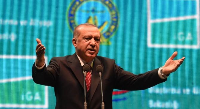 Президентът на Турция Реджеп Тайип Ердоган поздрави Володимир Зеленски за