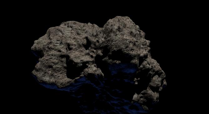 """Непилотираният космически апарат """"Хаябуса 2"""" успя да направи кратер на"""