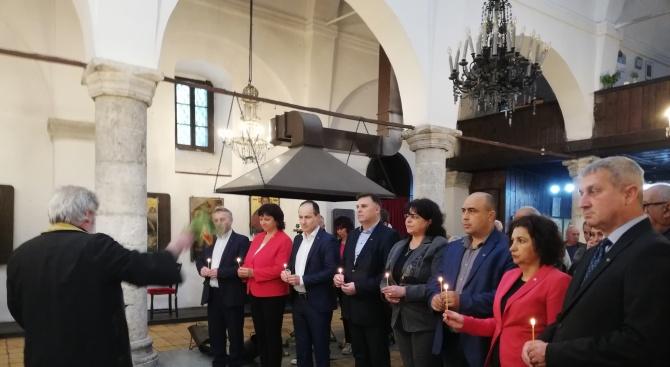 Кандидатът за евродепутат Андрей Ковачев присъства на откриването на кампанията