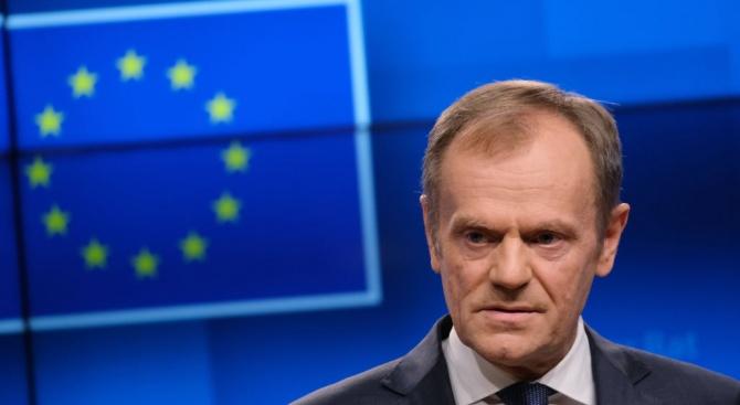 Председателят на Европейския съвет Доналд Туск призова днес политическите лидери