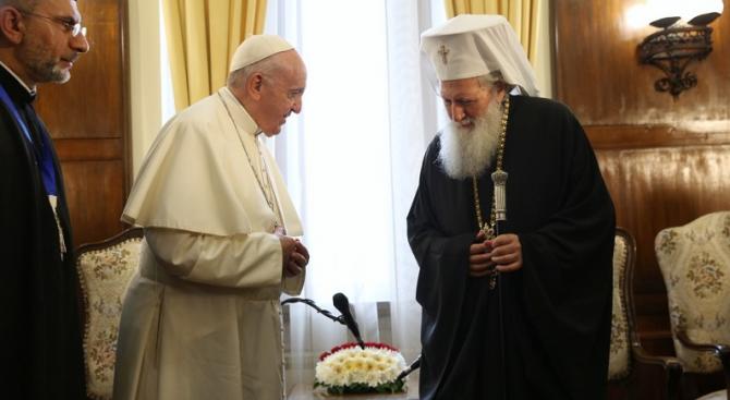 Папа Франциск към патриарх Неофит: Ще нося в сърцето си спомена за братската ни среща