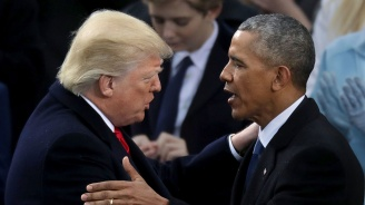 Барак Обама филмира Доналд Тръмп